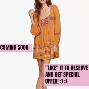 NWT: FREE PEOPLE Embroidered Dress